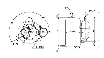 Compressores Rotativo Schema